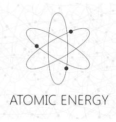 Atom over seamless atoms background vector image