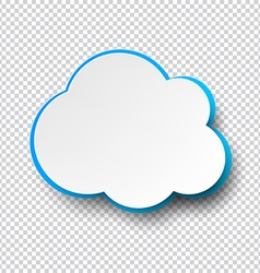 Blank cloud paper note with shadow vector image