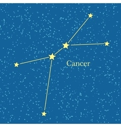 Cancer Zodiac Symbol on Background of Cosmic Sky vector image