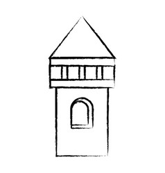 castle tower icon vector image vector image