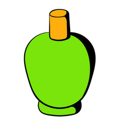 green cosmetic bottle icon icon cartoon vector image vector image
