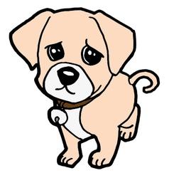 sad puppy vector image vector image