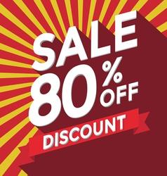 Sale 80 persent off discount vector image