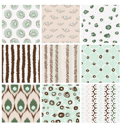 trendy pattern set vector image