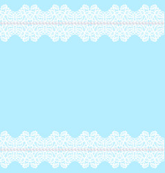 white lace borders vector image