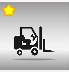 black stacker loader icon button logo symbol vector image vector image