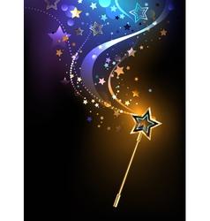 Bright magic wand vector