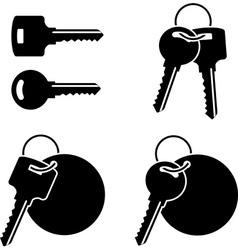 set of keys third variant vector image vector image