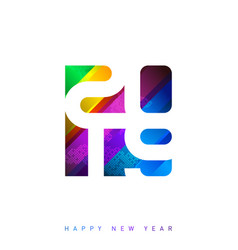 2019 happy new year elegant futuristic greeting vector image