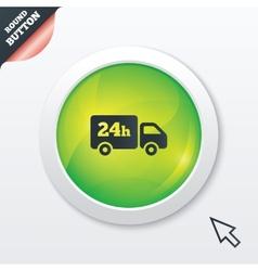 24 hours delivery service Cargo truck symbol vector
