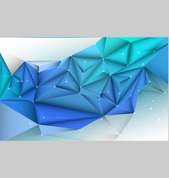 3d geometric polygon linetriangle pattern shape vector image
