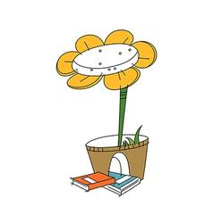 A flower pot vector image