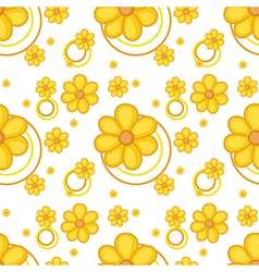 A yellow flowery design vector