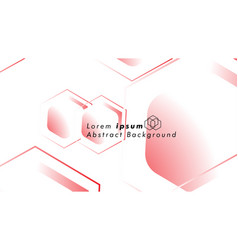 abstract background concepts of hexagon shapes vector image
