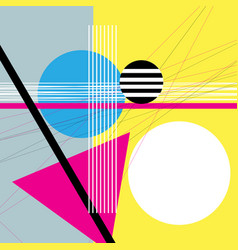 abstract geometric shapes and various vector image