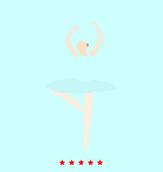 ballet dancer set it is color icon vector image