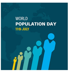 Banner or poster of world population day people vector