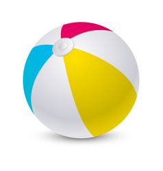 Beach ball or inflatable sphere for summer sport vector