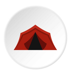 camping tent icon circle vector image