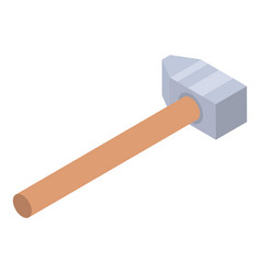 Carpenter hammer icon isometric style vector