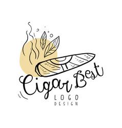 Cigar best logo design emblem can be used for vector