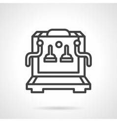 Coffee machine simple line icon vector image