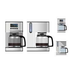 coffee maker front and side view vector image