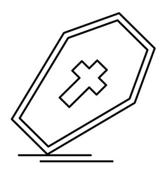 Coffin icon in creative design with elements for vector