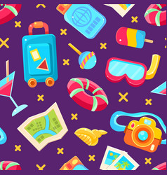 colorful summer holiday seamless pattern vector image