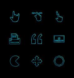 Commas dot slash hands pointer arrows vector