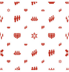 Crowd icons pattern seamless white background vector