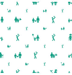 dad icons pattern seamless white background vector image