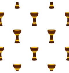 Darbuka musical instrument pattern seamless vector