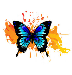 Decorative watercolor grunge butterfly for your vector