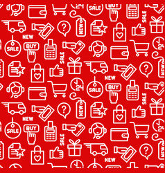 e-commerce seamless pattern vector image