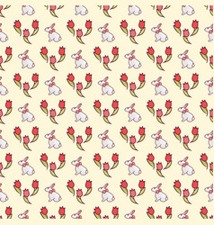 easter bunnies seamless pattern18 vector image