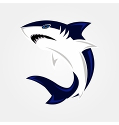 Evil shark swims vector