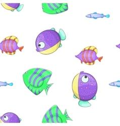 Fish pattern cartoon style vector image