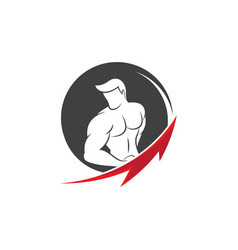 Fitness logo design vector