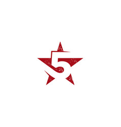 Five star logo design vector