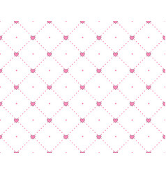funny princess pattern with geometrical structure vector image