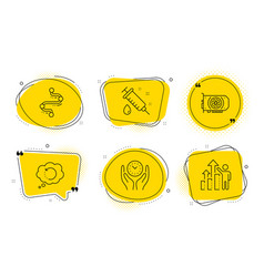 gpu recovery data and safe time icons set vector image