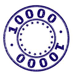 Grunge textured 10000 round stamp seal vector