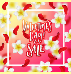 hand drawn calligraphy valentines day sale vector image