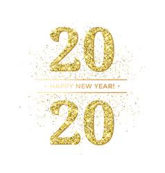 Happy new year glitter gold confetti vector