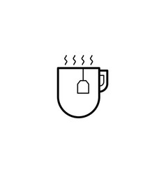 hot drink tea icon vector image