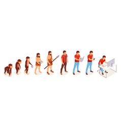human evolution monkey to modern man vector image
