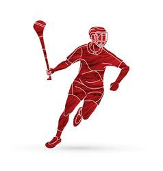 Irish hurley sport cartoon graphic vector