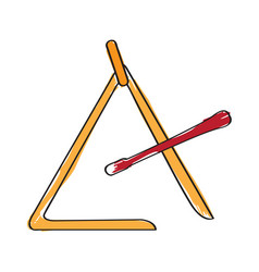 isolated triangle icon musical instrument vector image