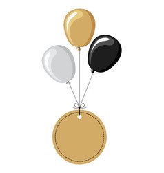 Labels flying on balloons vector